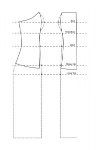 Full Dress from a Bodice pattern