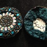 Finished medallions, front and back