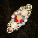 siam, opal and black AB swarovski bindi
