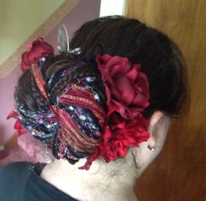 My hair for my ATS solo performance